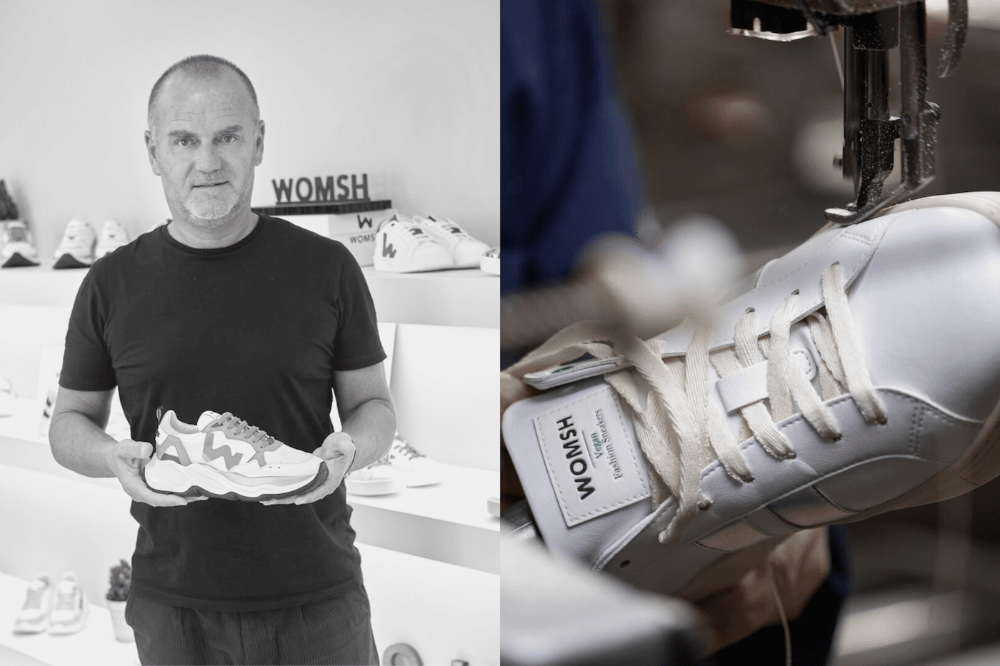 sustainable sneakers: WOMSH
