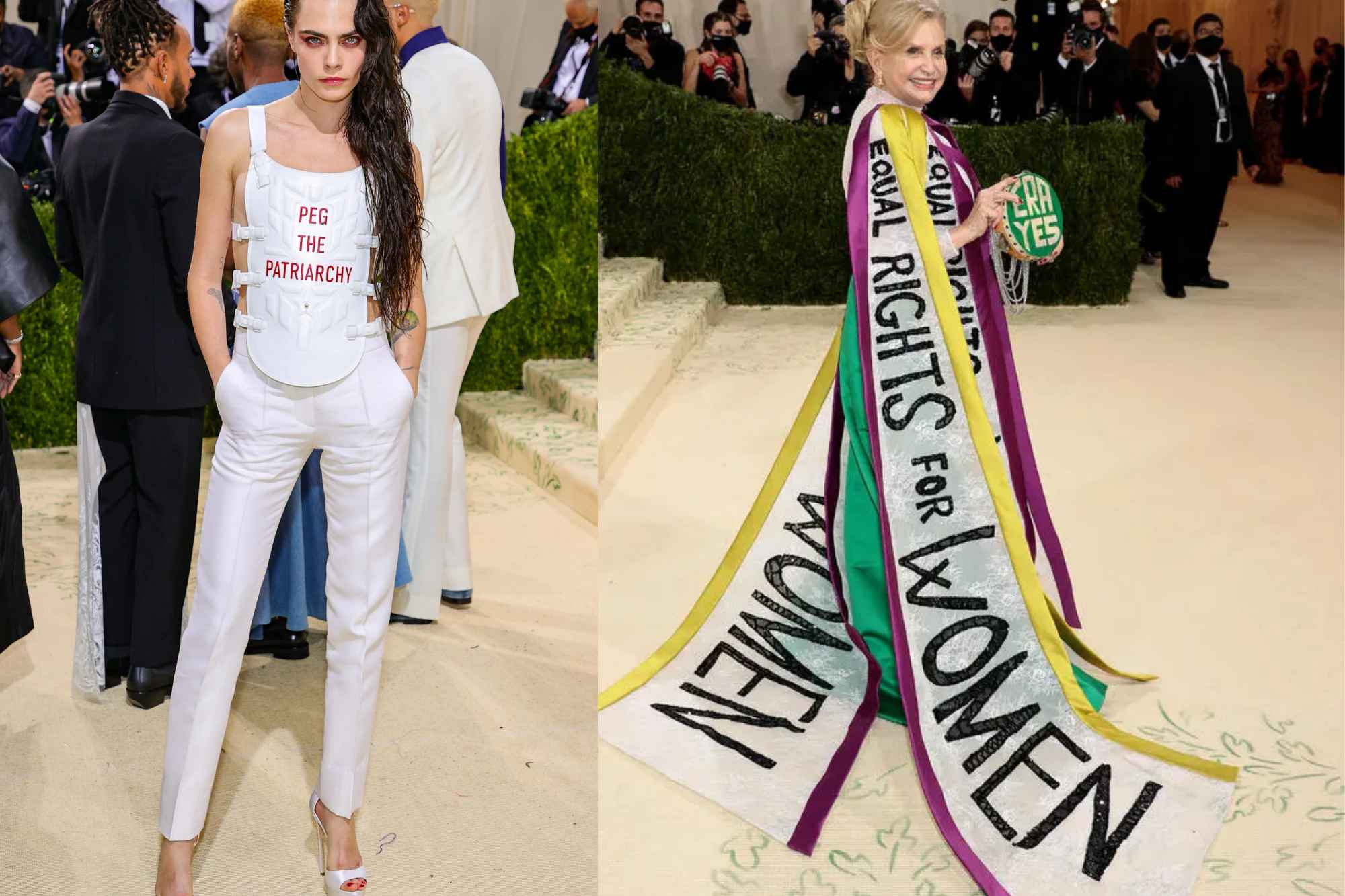 Carolyn B. Maloney and Cara Delevingne Worst Dressed at MET Gala 2021 due to problematic outfits